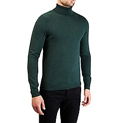 Burton - Green roll neck knitted jumper