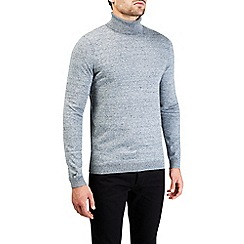 Burton - Grey roll neck knitted jumper