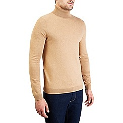 Burton - Camel roll neck knitted jumper