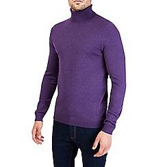 Burton - Purple roll neck knitted jumper