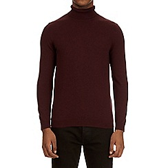 Burton - Burgundy roll neck jumper