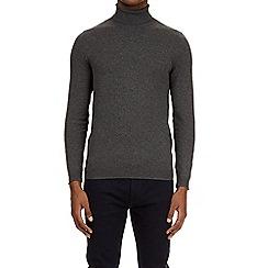 Burton - Grey roll neck jumper