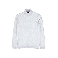 Burton - Silver roll neck jumper