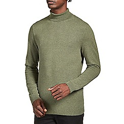 Burton - Khaki roll neck jumper*
