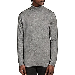 Burton - Grey salt & pepper roll neck jumper