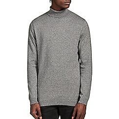 Burton - Grey salt & pepper roll neck jumper