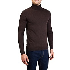 Burton - Brown roll neck knitted jumper