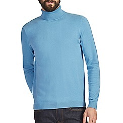 Burton - Light blue roll neck jumper
