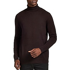Burton - Brown roll neck jumper