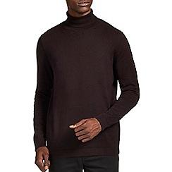Burton - Brown roll neck jumper