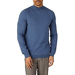 Burton - Blue knitted turtle neck jumper