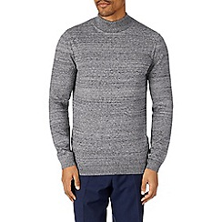 Burton - Grey marl knitted turtle neck jumper