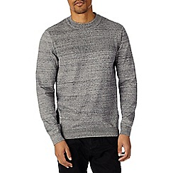 Burton - Grey marl knitted half turtle neck jumper