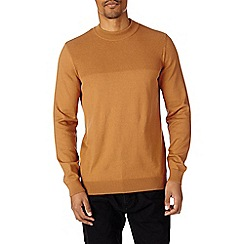 Burton - Camel knitted half turtle neck jumper