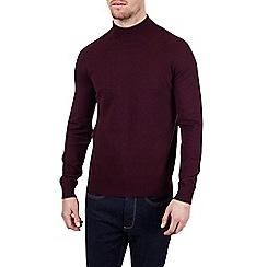Burton - Burgundy turtle neck knitted jumper