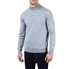 Burton - Grey turtle neck knitted jumper