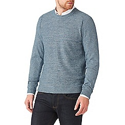 Burton - Blue textuerd crew neck jumper
