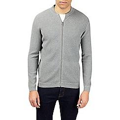 Burton - Light grey textured knitted baseball top