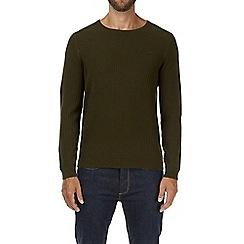 Burton - Khaki brick stitched jumper