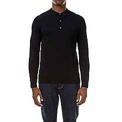 Burton - Black knitted rugby shirt