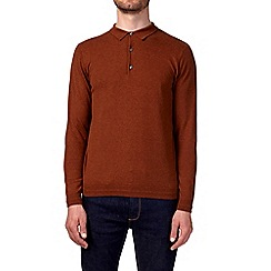 Burton - Caramel knitted rugby shirt