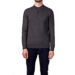 Burton - Charcoal knitted rugby shirt