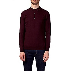 Burton - Purple merlot knitted rugby shirt