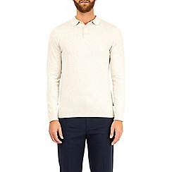 Burton - Ecru knitted polo shirt