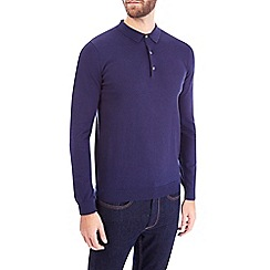 Burton - Navy cotton polo jumper