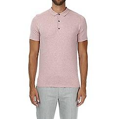 Burton - Pink knitted polo shirt