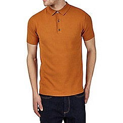 Burton - Ginger knitted polo shirt