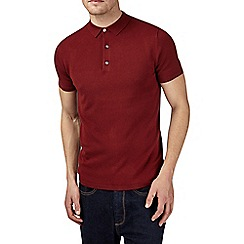 Burton - Red knitted polo shirt