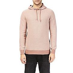 Burton - Coral textured hoodie