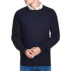 Burton - Black & navy textured ripple jumper