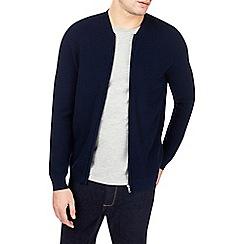 Burton - Navy textured bomber jacket
