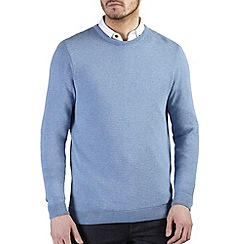 Burton - Blue ripple textured jumper