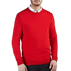 Burton - Red ripple textured jumper