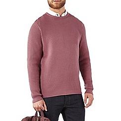 Burton - Dusky pink textured crew neck jumper