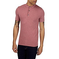 Burton - Pink knitted polo shirt