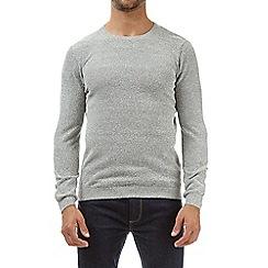 Burton - Light grey textured jumper