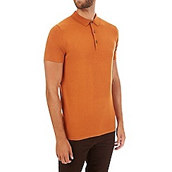 Burton - Ginger short sleeve knitted polo shirt