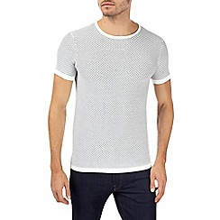 Burton - White brick print knitted t-shirt