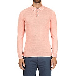 Burton - Pink textured polo