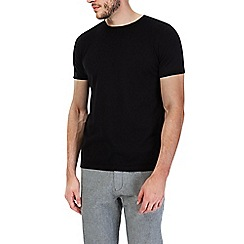 Burton - Black short sleeve knitted t-shirt