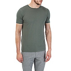 Burton - Khaki short sleeve knitted t-shirt