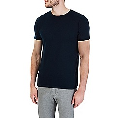 Burton - Navy short sleeve knitted t-shirt