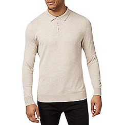 Burton - Oatmeal knitted rugby top