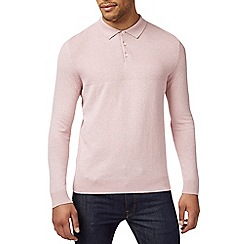Burton - Pink knitted rugby top