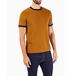 Burton - Mustard short sleeve knitted t-shirt