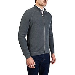 Burton - Grey textured knitted jacket